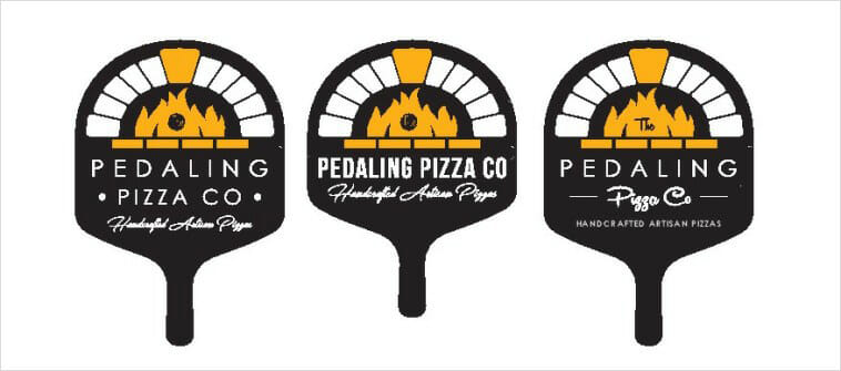 The Pedaling Pizza Co - Pizza Logos