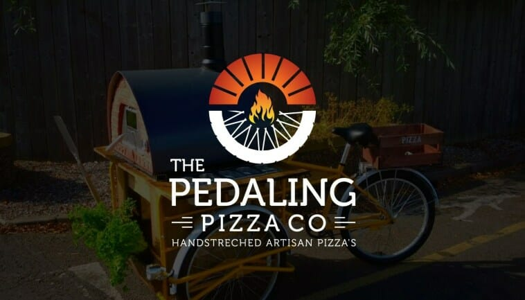 The Pedaling Pizza Co - Business Card Pizza