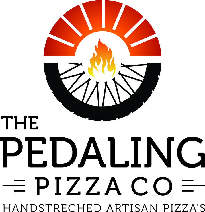 The Pedaling Pizza Co - Pizza Restaurant Logo