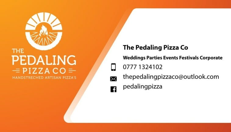 The Pedaling Pizza Co - Pizza Business Card