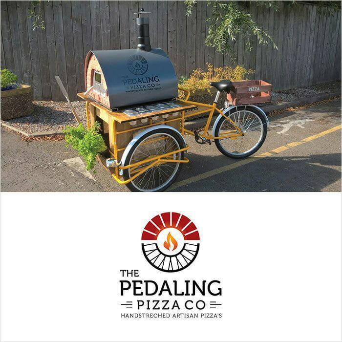 The Pedaling Pizza Co - Pizza Logo Design