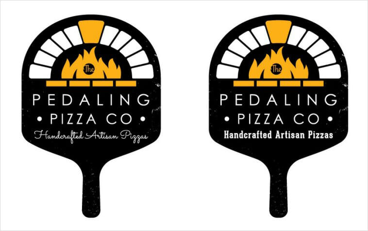 The Pedaling Pizza Co - Pizza Logo