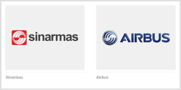 Sinarmas vs. Airbus - Company Logos