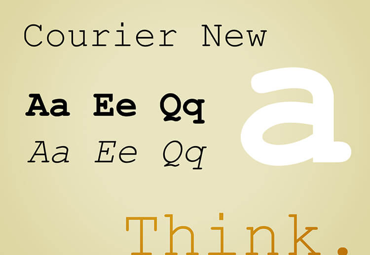 Courier and Courier New