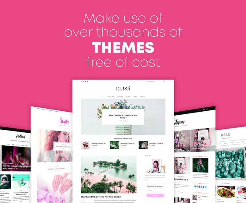 Make use of over thousands of themes free of cost