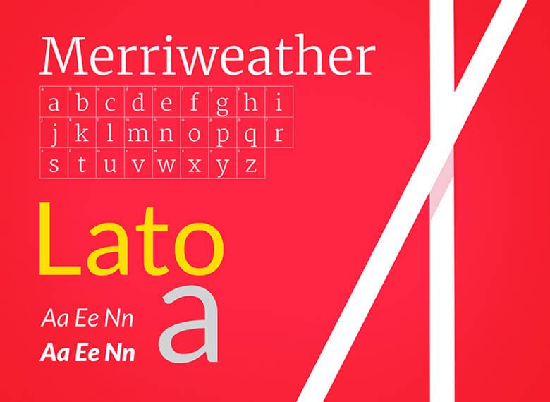 Merriweather Light and Lato