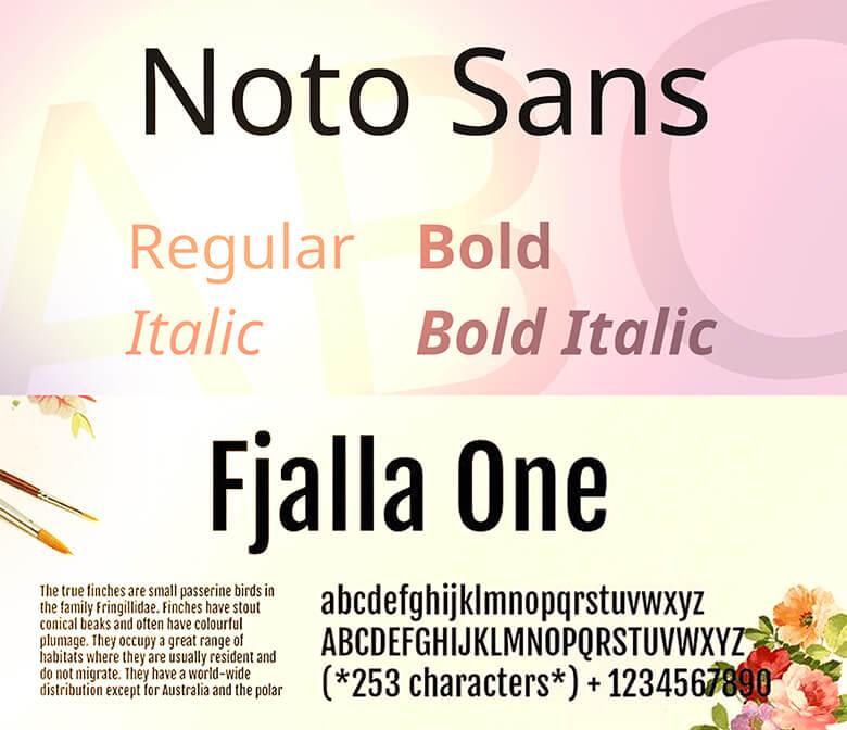 Noto Sans and Fjalla One