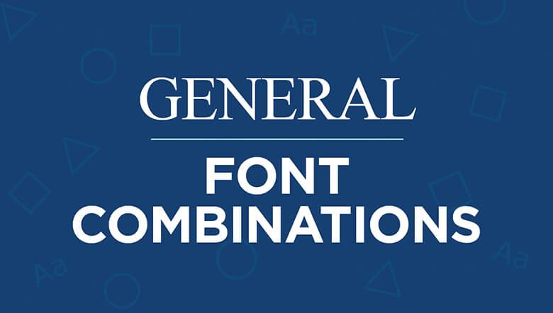 General Font Combinations