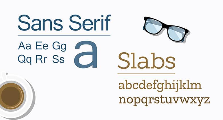 Slabs + Simple Sans Serifs