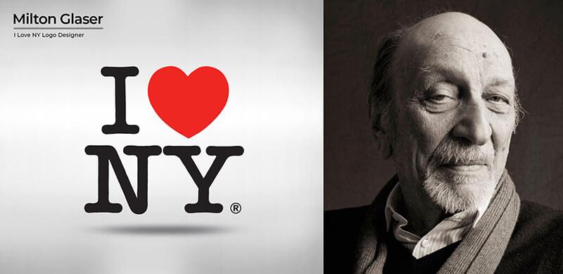 Milton Glaser (I ❤ NY logo)