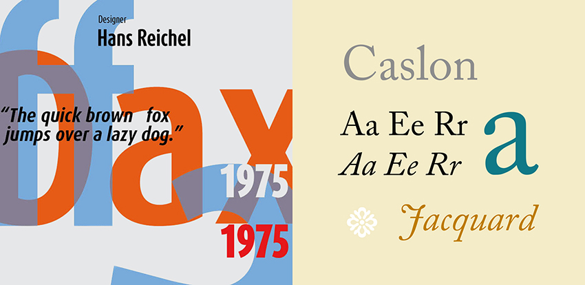 Dax Bold and Caslon