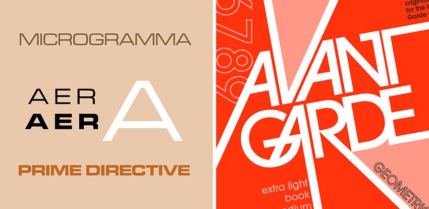 Microgramma and Avant-Garde
