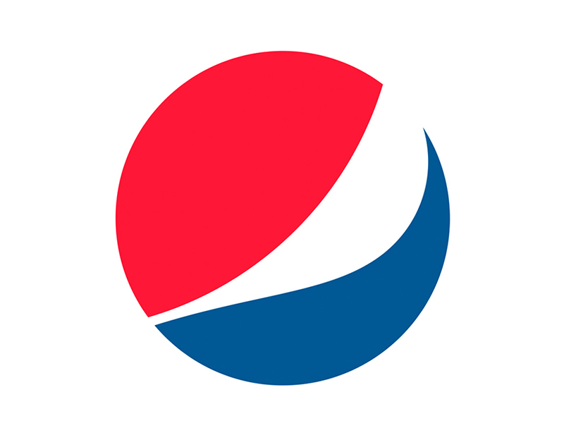 The popular red and blue logo