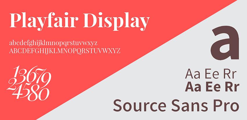 Playfair Display and Source Sans Pro