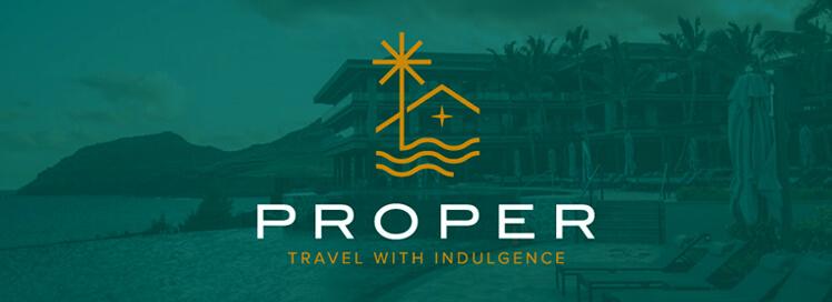 Proper (travel with indulgence) green logo