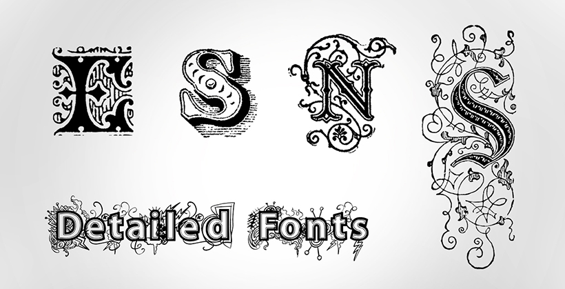 Detailed Fonts