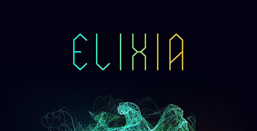 Elixia - The edgy font
