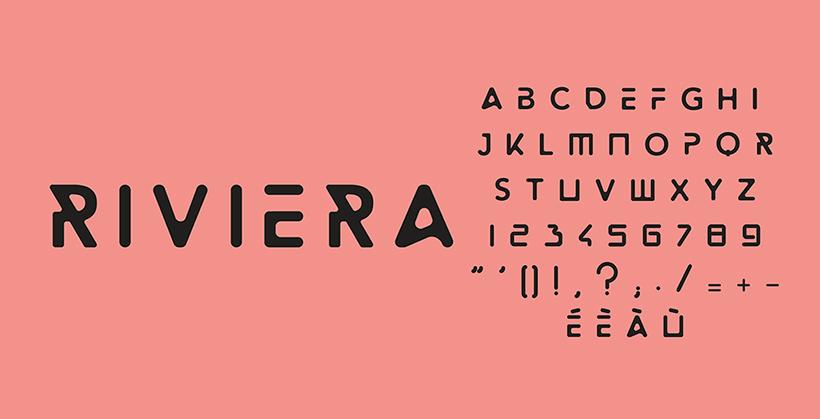 Geometric design font - Riviera