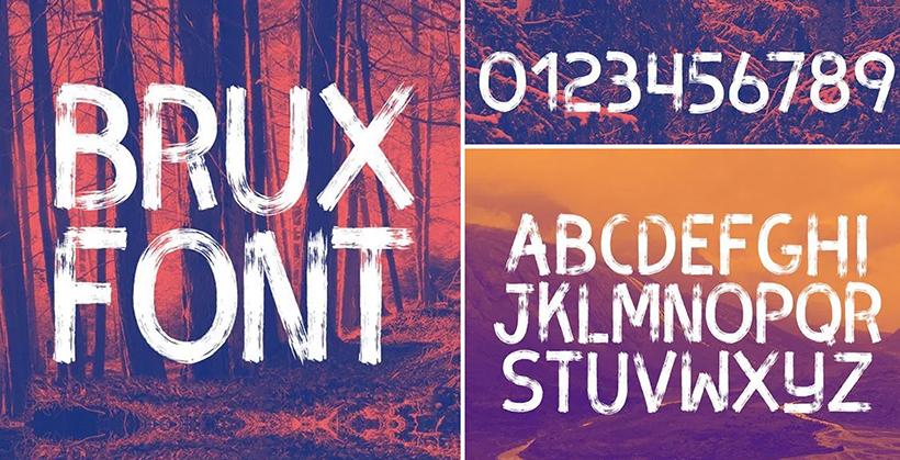 Brush style font - Brux