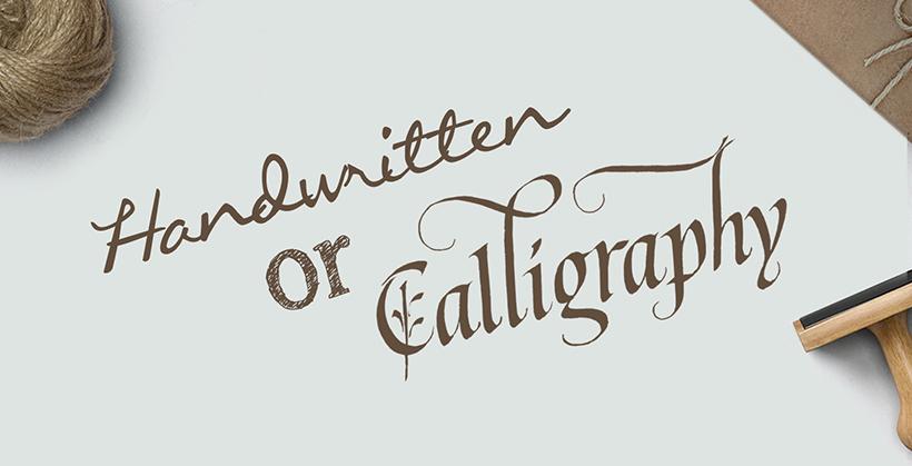 Handwritten or calligraphic scripts