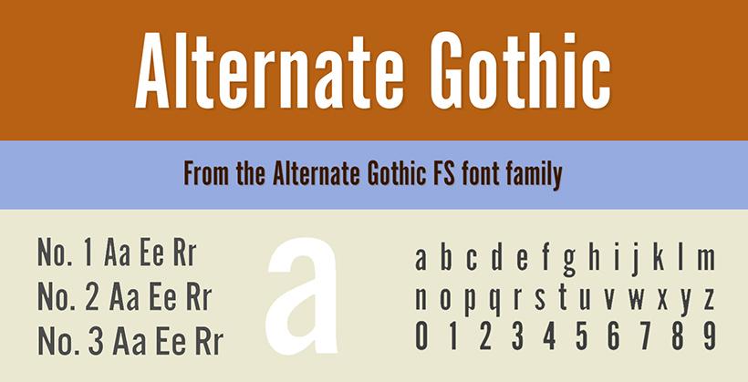 Alternate Gothic