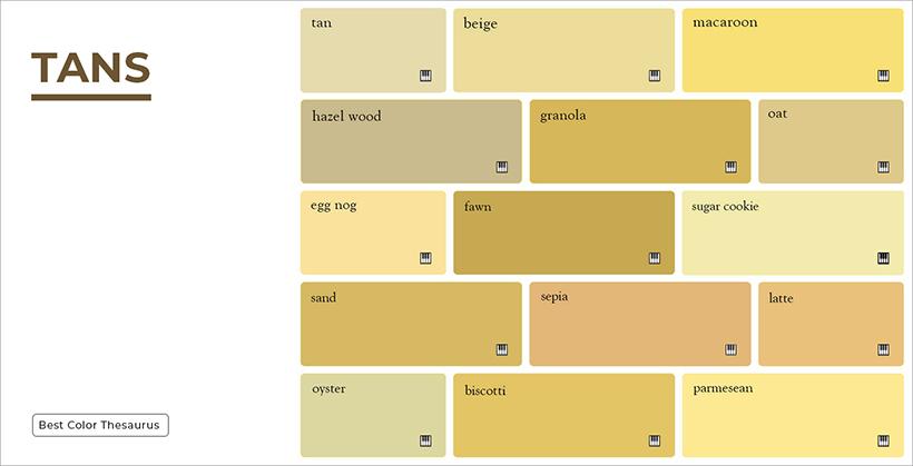Shades of Tan