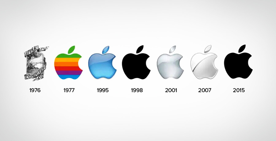 Apple Logos - Complex logo design to simple logos