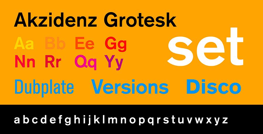 Akzidenz-Grotesk - Font Creators