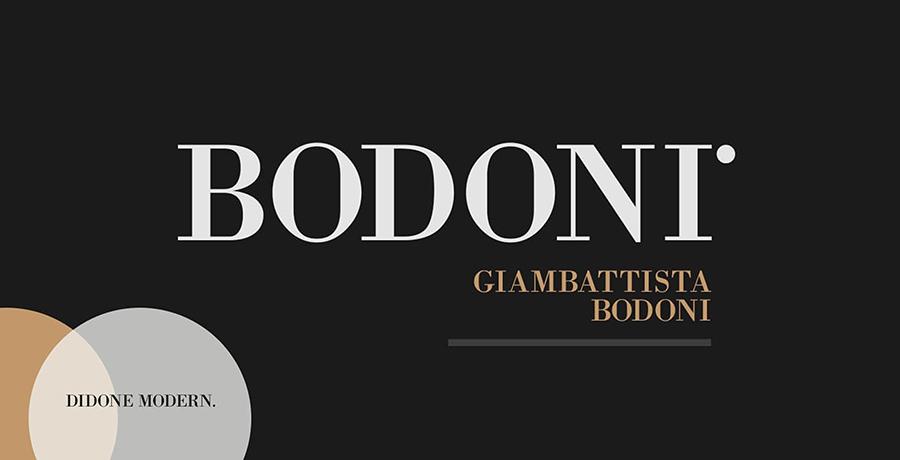 Bodoni - Famous Fonts
