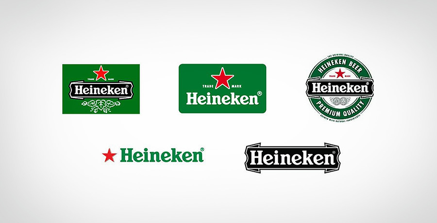 Heineken Logos - Complex logo to simple