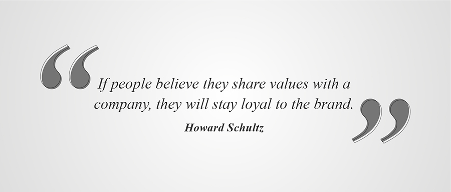 Howard Schultz's Brand Quote