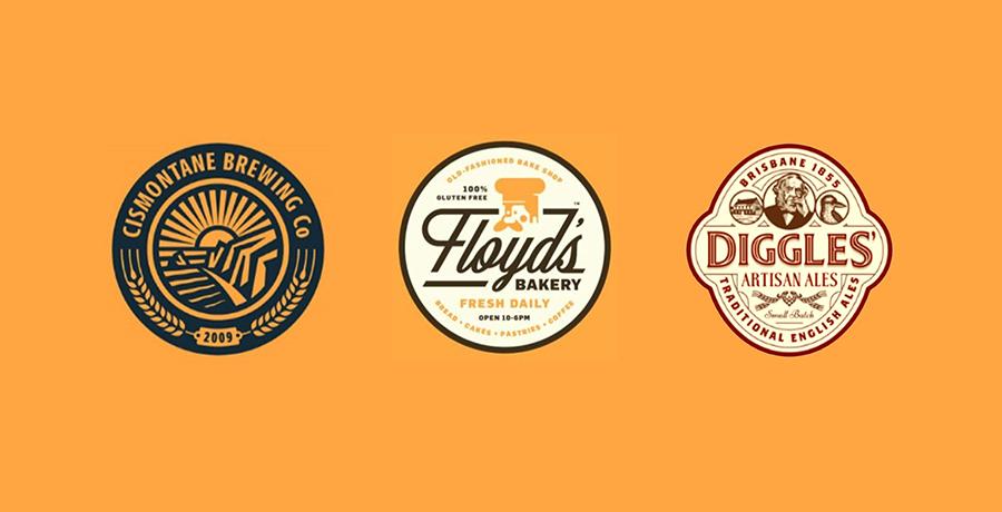 Cismontane Brewing Co, Floyds Bakery & Diggles Logos