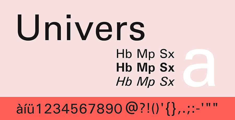 Univers - Famous Font