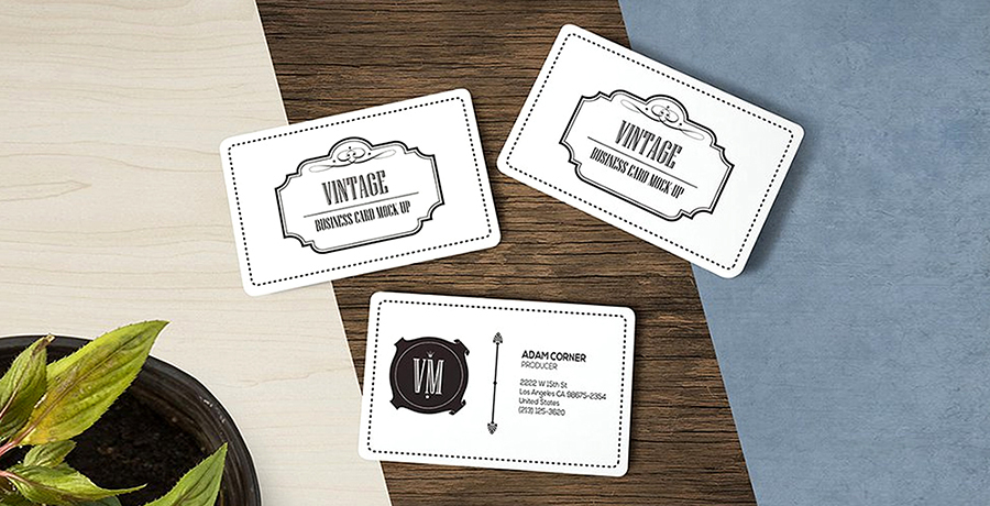 Vintage Business Card Dimensions