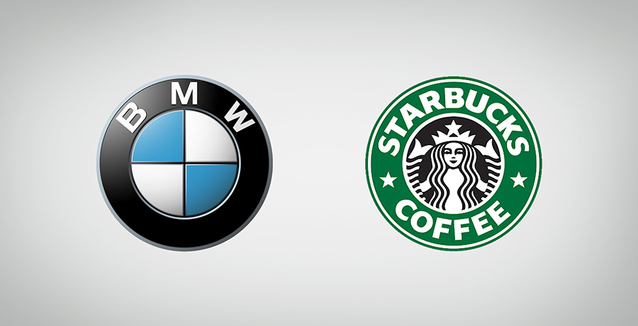BMW And Starbucks Coffee Logo