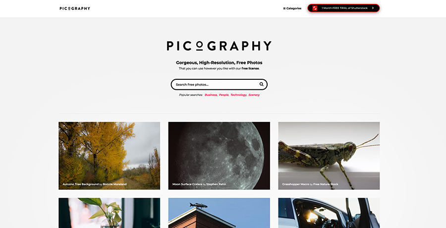Download copyright free images from Picography.co