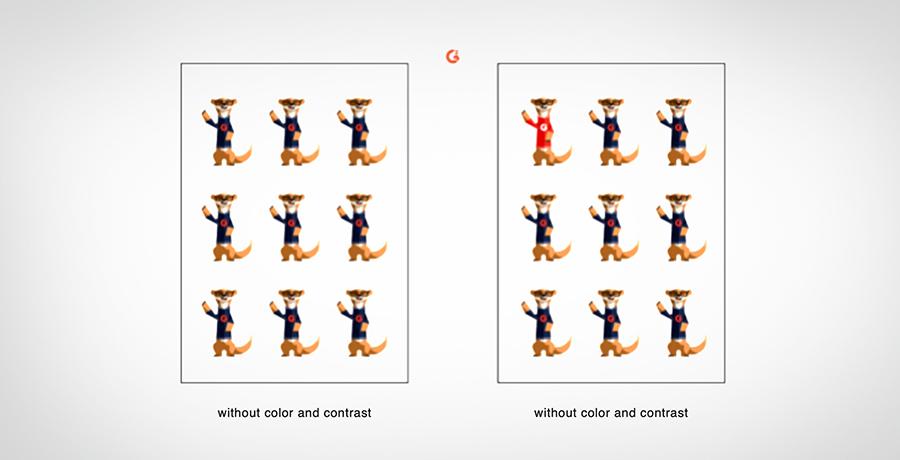 Design Hierarchy - Color and Contrast Example