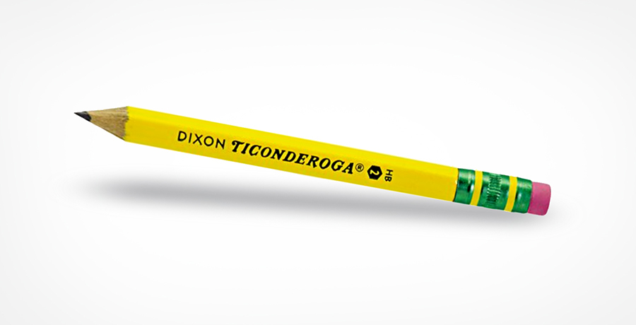 1)	Dixon Ticonderoga # 2 Pencil