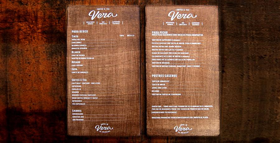 Vera- Saragoza - Menu design Ideas