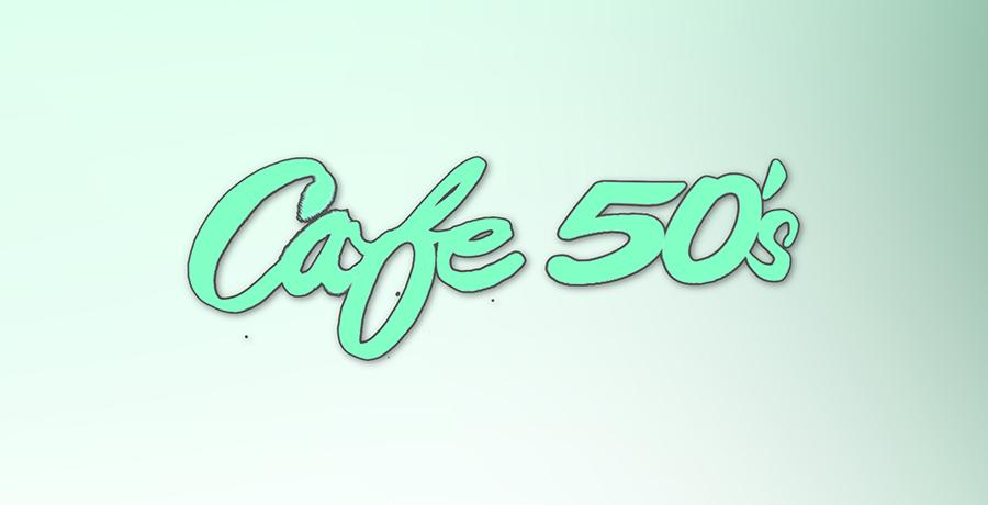 Cafe 50s - Vintage Logo