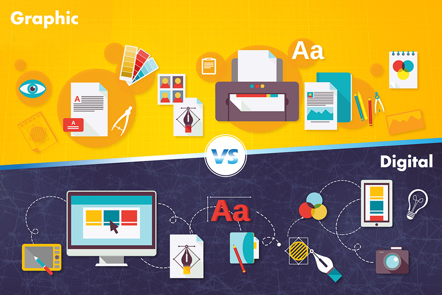 Difference between Digital Design and Graphic Design
