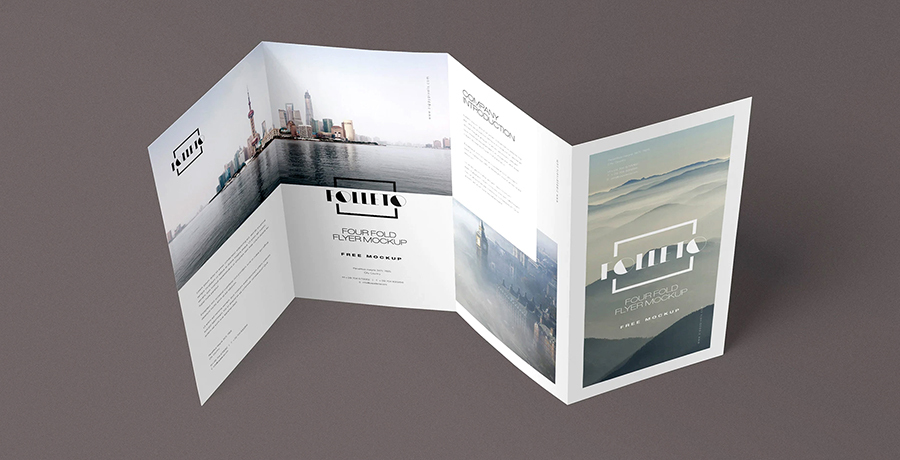 Folded Creative Brochure Design