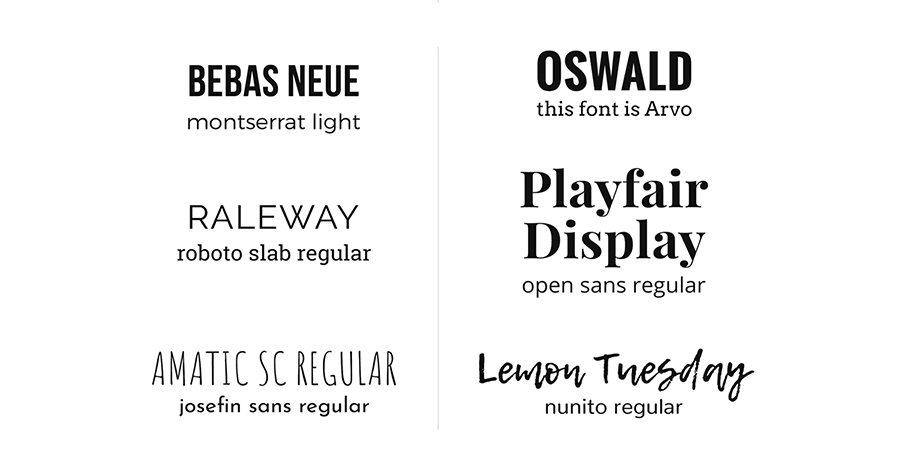 Use typographic pairing - Label Designs