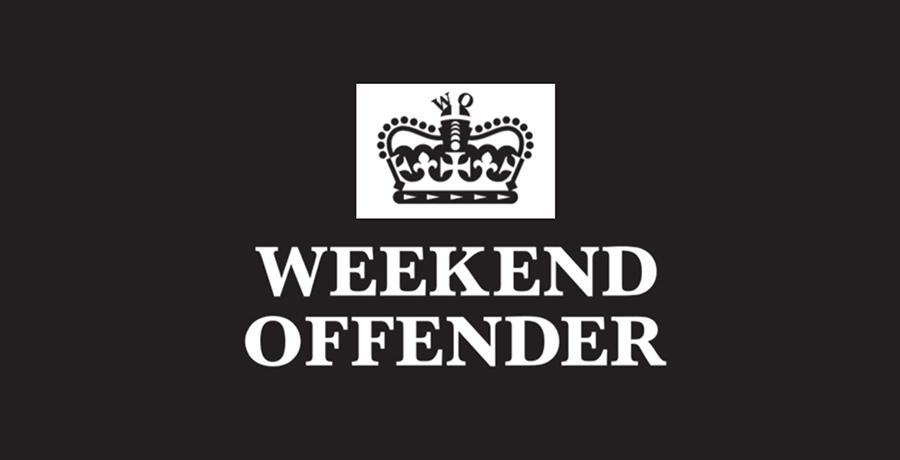 Weekend Offender - retro logo design