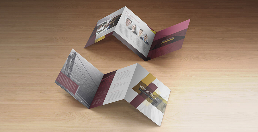 Z Fold creative brochure design