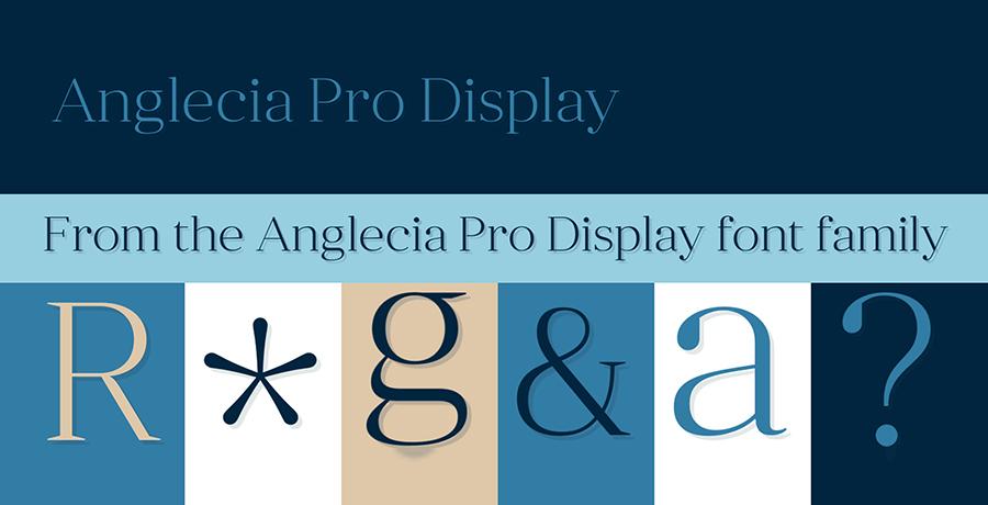 Anglecia Pro Display - Font For Branding