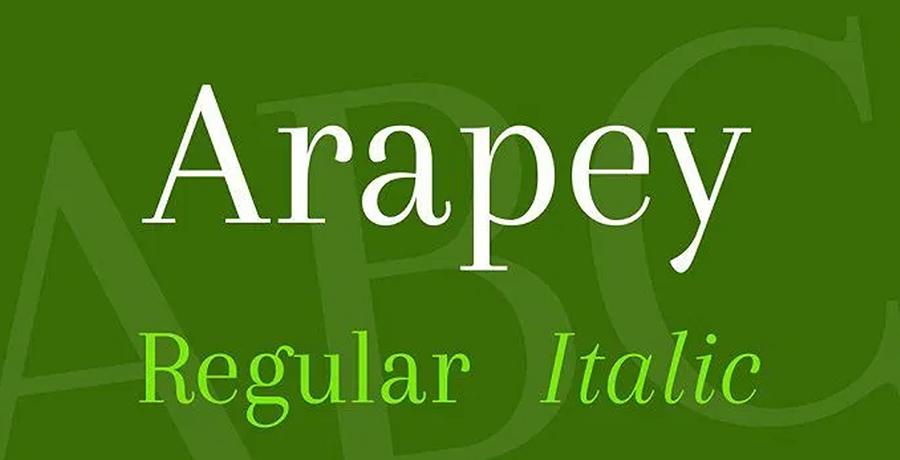 Arapey - Best Free Serif Font