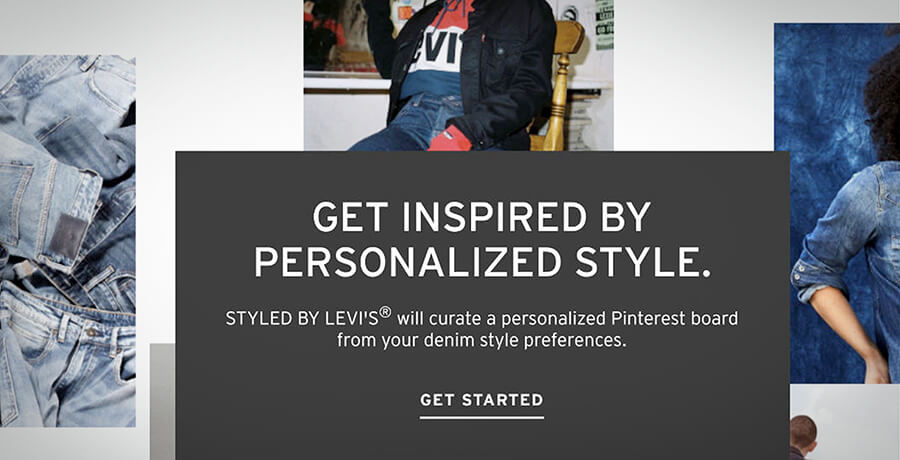 Co-branding of Levis and Pinterest