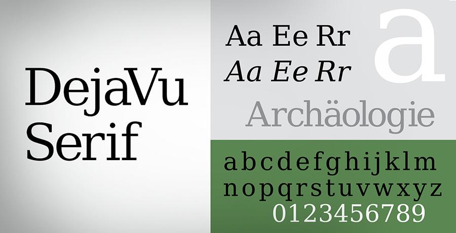 Dejavu Serif - Font For Logo Design
