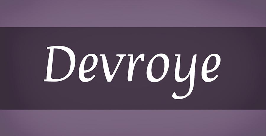 Devroye - Font For Logo Design